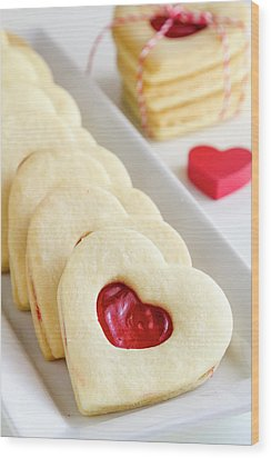 Wood Print featuring the photograph Valentines Day Treats by Teri Virbickis