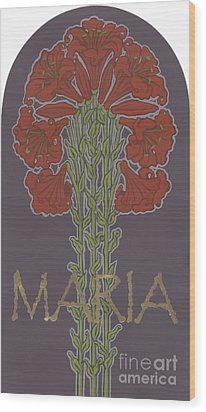 Wood Print featuring the painting Variation On Our Lady Of Sorrows 236 by William Hart McNichols