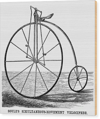 Velocipede, 1869 Wood Print by Granger