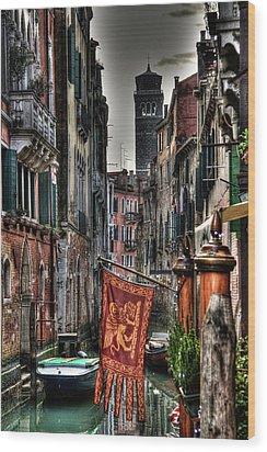 Venice Wood Print by Andrea Barbieri