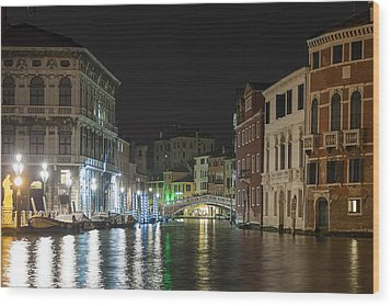 Wood Print featuring the photograph Romantic Venice  by Silvia Bruno