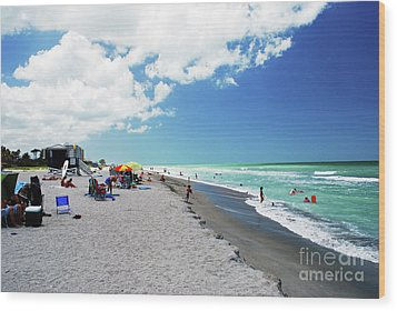 Wood Print featuring the photograph Venice Beach by Gary Wonning