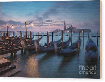 Wood Print featuring the photograph Venice Dawn by Brian Jannsen