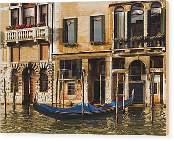Venice Morning Wood Print