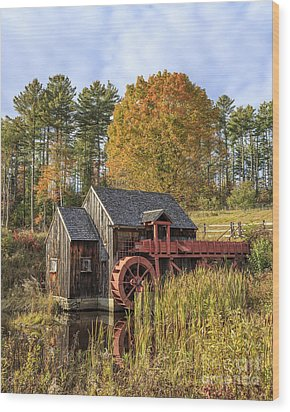 Wood Print featuring the photograph Vermont Grist Mill by Edward Fielding
