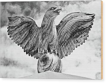 Wood Print featuring the photograph Victorious Eagle Of Marble by Yurix Sardinelly