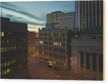 View From The Fairmont Wood Print by Bryan Scott