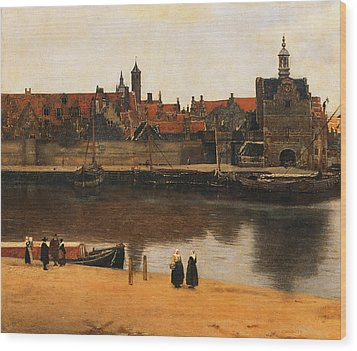 View Of Delft Wood Print by Jan Vermeer
