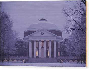 View Of The University Of Virginias Wood Print by Kenneth Garrett
