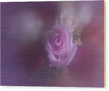 Wood Print featuring the photograph Vintage Pink Rose Feb 2017 by Richard Cummings