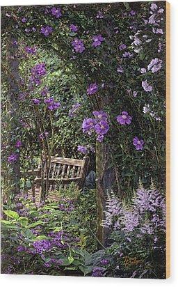 Violet Garden Respite Wood Print by Doug Kreuger
