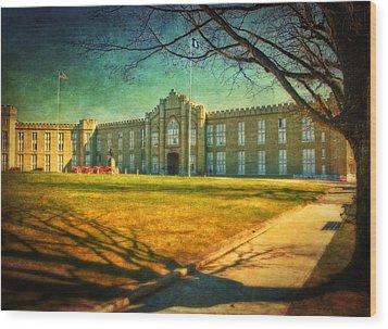 Virginia Military Institute  Wood Print by Kathy Jennings