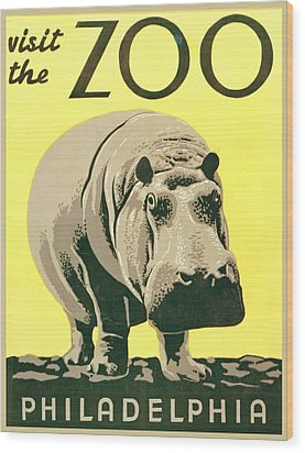 Visit The Zoo Wood Print by Unknown