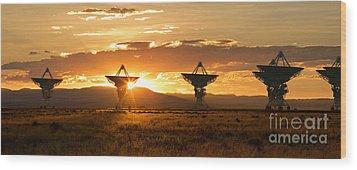 Vla At Sunset Wood Print by Matt Tilghman