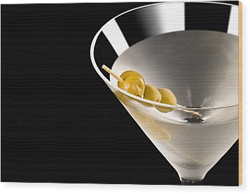 Vodka Martini Wood Print