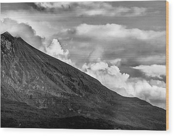 Wood Print featuring the photograph Volcano by Hayato Matsumoto