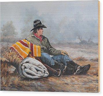 Waitin' On The Boss Wood Print by Bob Hallmark