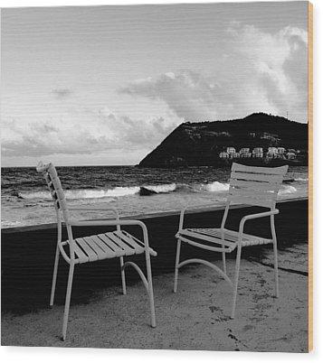 Waiting Wood Print by Ian  MacDonald