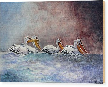 Waiting Out The Storm Wood Print by Jimmy Smith