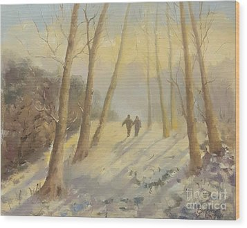 Walking In Sunshine Wood Print