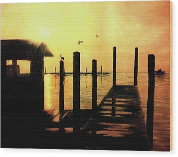 Warm Waters Wood Print by Travis  Ragan