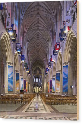Washington National Cathedral - Washington Dc Wood Print by Brendan Reals