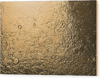 Water Abstraction - Liquid Gold Wood Print by Alex Potemkin
