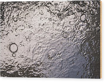 Water Abstraction - Liquid Metal Wood Print by Alex Potemkin