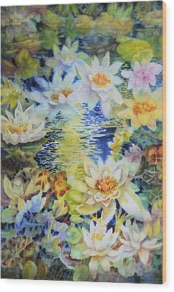 Water Garden Wood Print by Ann  Nicholson