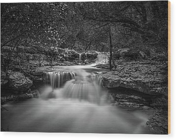Waterfall In Austin Texas Wood Print