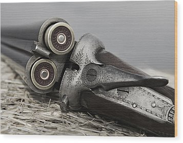 Webley And Scott 12 Gauge - D002721a Wood Print