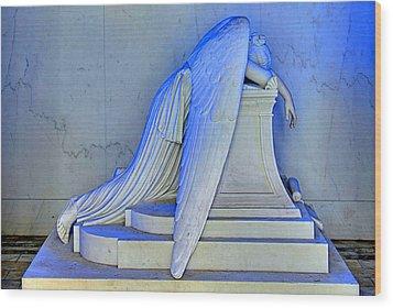 Weeping Angel Wood Print by Ellis C Baldwin
