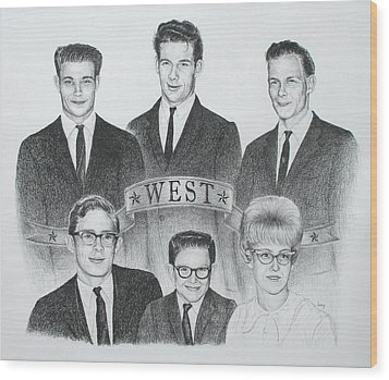 Wood Print featuring the drawing West by Mike Ivey