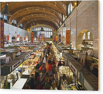 West Side Market  Wood Print by Tim Fitzwater