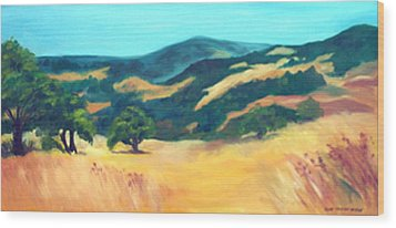 Western Hills Wood Print by Anne Trotter Hodge