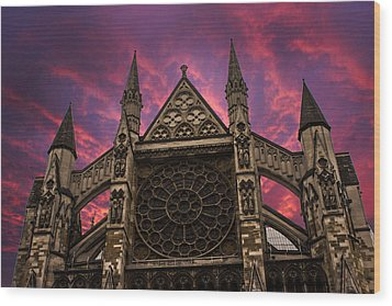 Westminster Abbey Wood Print by Martin Newman