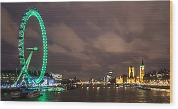 Westminster And The London Eye Wood Print by Dawn OConnor