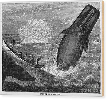Whaling, 19th Century Wood Print by Granger