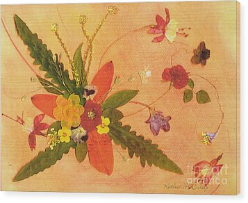 Whirled Away Wood Print by Kathie McCurdy