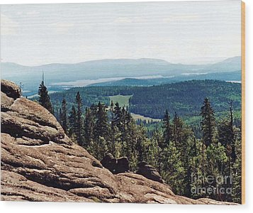 Wood Print featuring the photograph White Mountains Of Arizona by Juls Adams