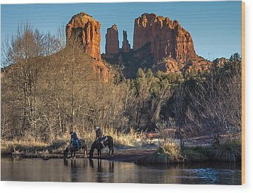 Wood Print featuring the photograph Wild Wild West by Kelly Marquardt