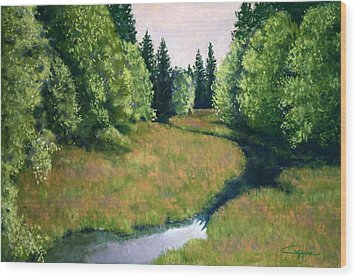 Willamette Valley Summer Wood Print by Carl Capps