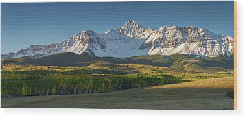 Wood Print featuring the photograph Wilson Peak Panorama by Aaron Spong
