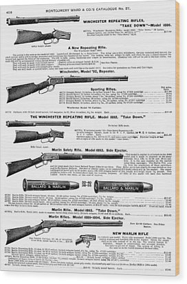 Winchester Rifles Wood Print by Granger