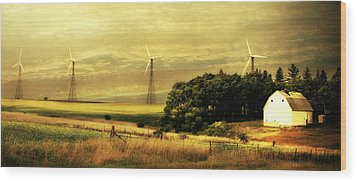 Wood Print featuring the photograph Wind Turbines by Julie Hamilton