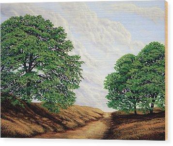 Windblown Clouds Wood Print by Frank Wilson
