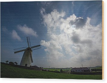 Windmill Wood Print