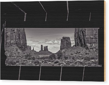 Window Into Monument Valley Wood Print by Eduard Moldoveanu