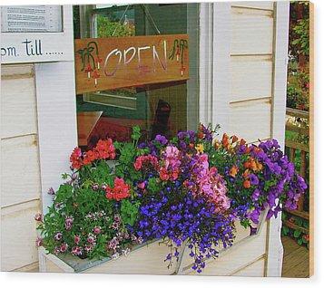 Window View Wood Print by Lisa Billingsley