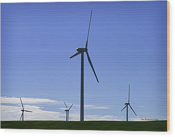 Windy Power Wood Print by Tom Buchanan